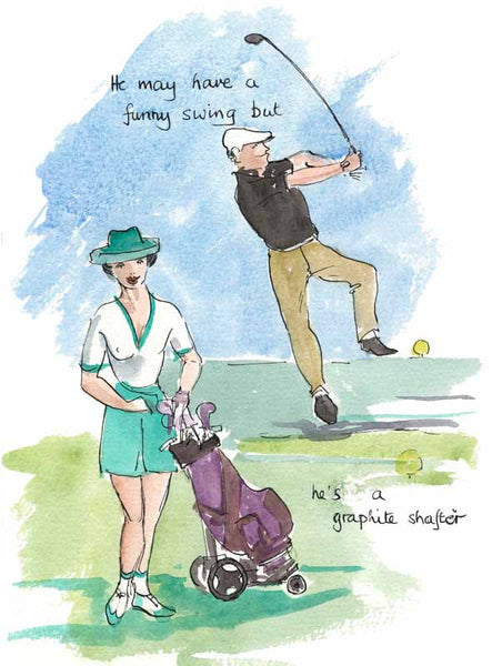 Graphite Shafter - golfing art print by Mark Huskinson
