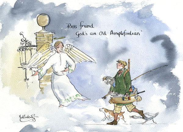 Pass Friend ... God's An Old Amplefordian - sporting art print by Mark Huskinson