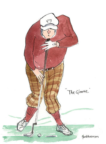 The Gimme - golfing art print by Mark Huskinson