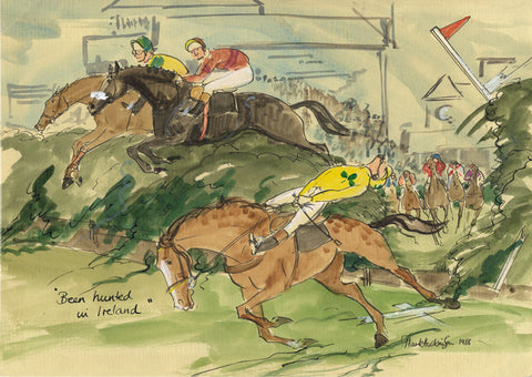 Been Hunted In Ireland - horse racing art print by Mark Huskinson