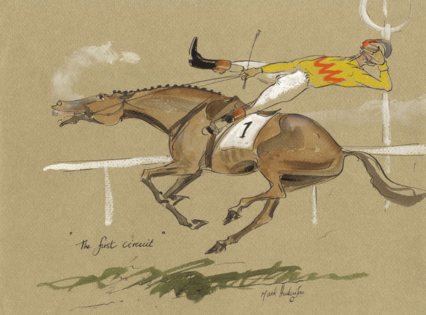 The First Circuit - horse racing art print by Mark Huskinson