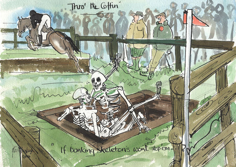 Thro' The Coffin - horse art print by Mark Huskinson