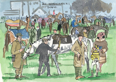 The Handicappers Bonus - horse racing art print by Mark Huskinson