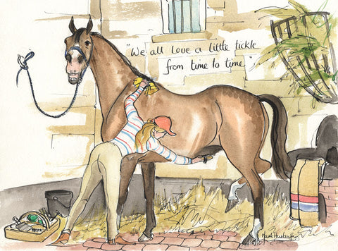 We All Love A Little Tickle From Time To Time - horse art print by Mark Huskinson