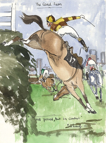 The Canal Turn - horse racing art print by Mark Huskinson