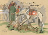 Who's Carrying Too Much Weight? - horse racing art print by Mark Huskinson
