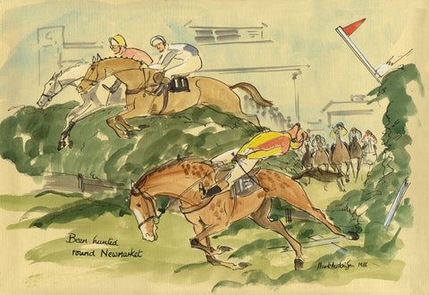 Been Hunted Round Newmarket - horse racing art print by Mark Huskinson