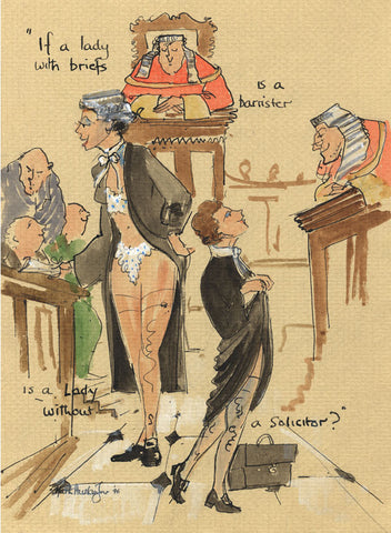 Solicitor's Briefs - legal art print by Mark Huskinson