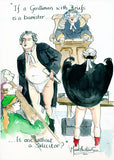 If A Gentleman With Briefs Is A Barrister - legal art print by Mark Huskinson