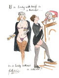 If A Lady With Briefs Is A Barrister - legal art print by Mark Huskinson
