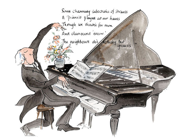 Some Charming Selections Of Strauss - music art print by Mark Huskinson