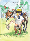 The Climax Of The Match - polo art print by Mark Huskinson