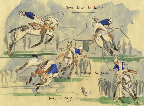 Some Have The Knack - polo art print by Mark Huskinson