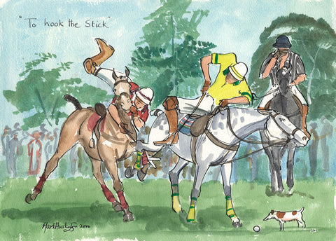 To Hook The Stick - polo art print by Mark Huskinson