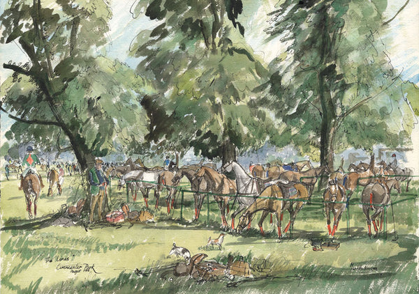 The Lines Cirencester Park - polo art print by Mark Huskinson