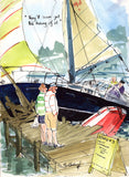 They'll Soon Get The Hang Of It - sailing cartoon art print by Mark Huskinson