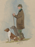 Two Gun Dogs - shooting art print by Mark Huskinson
