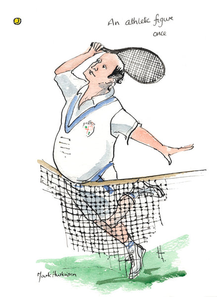 An Athletic Figure Once - tennis art print by Mark Huskinson