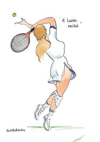A Ladies Racket - tennis art print by Mark Huskinson