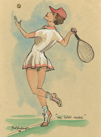 The Latest Racket - tennis art print by Mark Huskinson