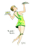 The Perfect Hostess - wine cartoon by Mark Huskinson