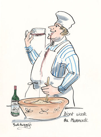 Don't Waste The Marinade - wine cartoon by Mark Huskinson