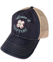 Load image into Gallery viewer, Navy/Ivory Trucker Hat - Grace and Cotton