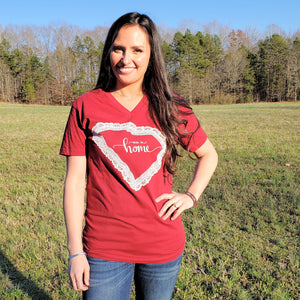 "State of Lace - SC ""USC"" V-Neck - Grace and Cotton"