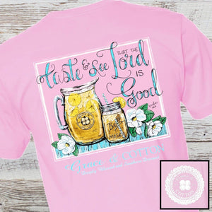 """Sweet Tea and Magnolia"" - Light Pink - Grace and Cotton"