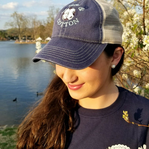 Navy/Ivory Trucker Hat - Grace and Cotton