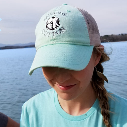 Island Reef/Ivory Trucker Hat - SOLD OUT - Grace and Cotton
