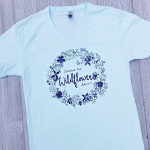 """Consider the Wildflowers"" V-Neck Tee - 2 Colors - Grace and Cotton"