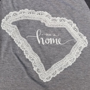 State of Lace - South Carolina Baseball Tee - Grace and Cotton