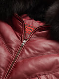 Goose Country V-Bomber: Burgundy Leather