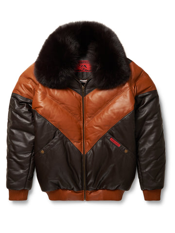 Goose Country Quarter V-Bomber: Black Leather