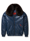Goose Country V-Bomber: Navy Leather