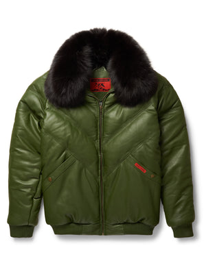 Goose Country V-Bomber: Olive Leather