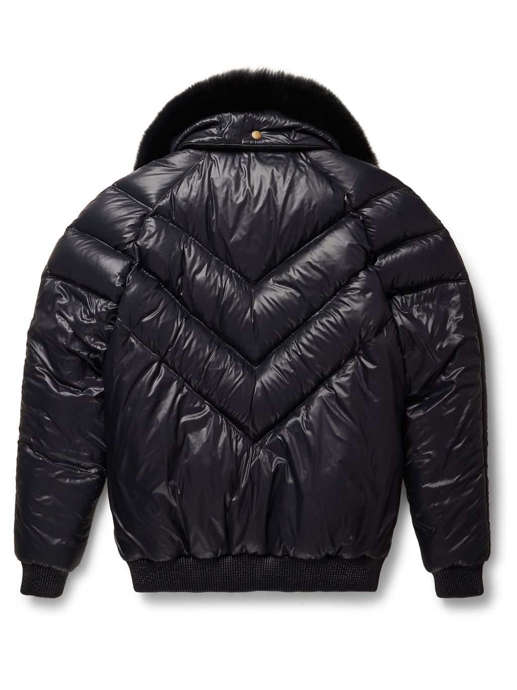 Goose Country V-Bomber: Nylon Black w/ Black Fox Fur