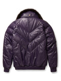 Goose Country V-Bomber: Purple Leather