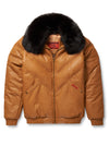 Goose Country V-Bomber: Orange Leather