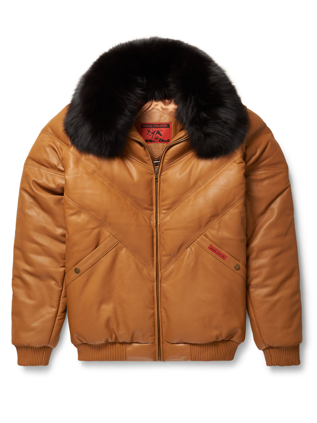 Goose Country V-Bomber: Camel Leather