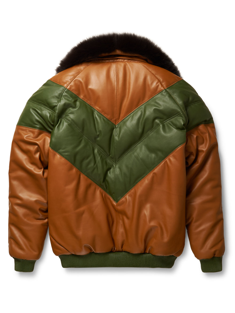 1e509e3a1 Goose Country V-Bomber Two-Tone: Brown/Green Leather