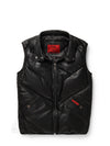 Mens Bubble V-Vest Black w/ Hood