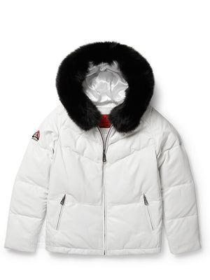 Women's Pearl Bubble Jacket White