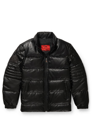 Men's Stunt Black Bubble Jacket with Zip-Out Hood