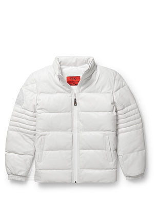 Men's Stunt White Bubble Jacket with Zip-Out Hood