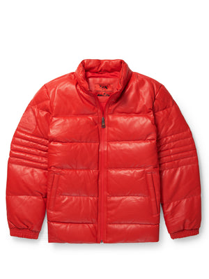Men's Stunt Red Bubble Jacket with Zip-Out Hood
