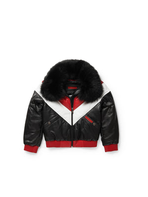 Kid's V-Bomber Black/Red/White Jacket