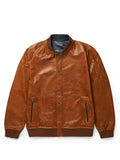 Men's Blouson Navy/ Cognac Reversible Jacket