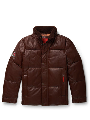 Men's Steven Bubble Jacket Brown